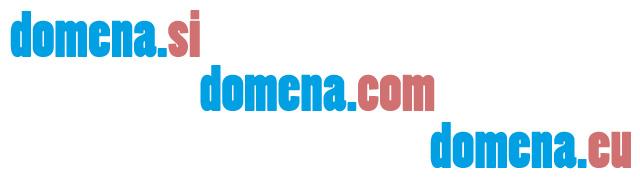 Več domenskih končnic