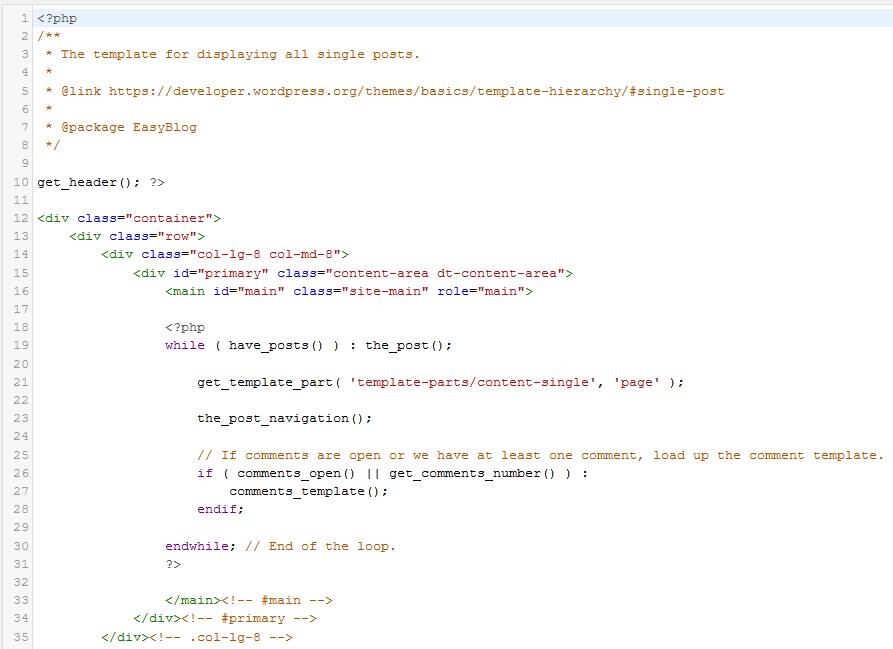 Programska koda spletišča